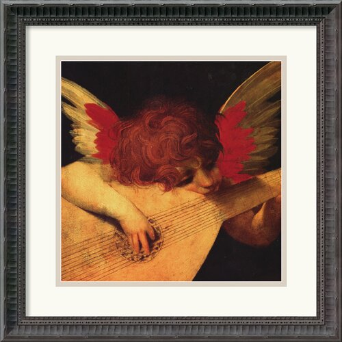 Amanti Art 'Musical Angel' by Rosso Fiorentino Framed Painting Print
