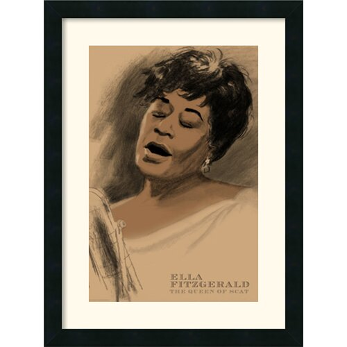 'Ella Fitzgerald' by Clifford Faust Framed Graphic Art