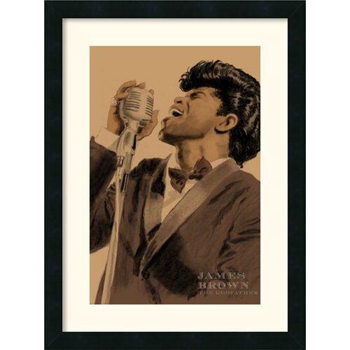 Amanti Art 'James Brown' by Clifford Faust Framed Graphic Art