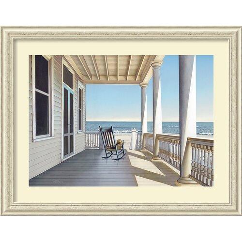 Amanti Art 'Carolina Porch' by Daniel Pollera Framed Painting Print