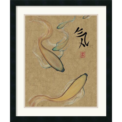 'Energy I Gold' by Barbara Psimas Framed Painting Print