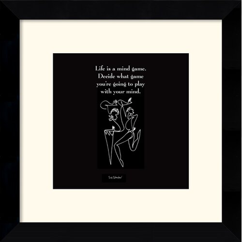 'Life is a Mind Game' by Sir Shadow Framed Textual Art
