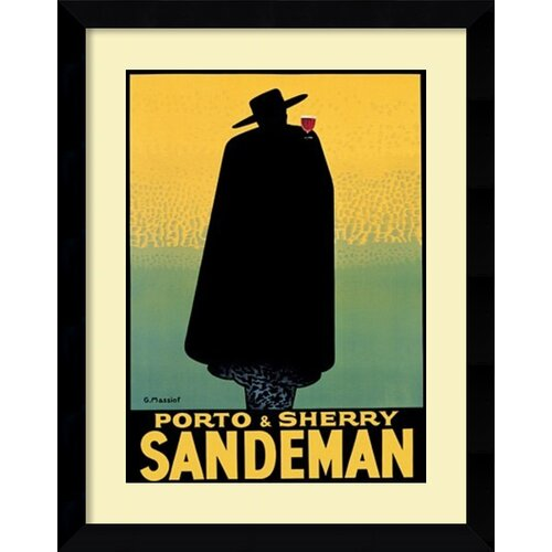'Sandeman' by Georges Massiot Framed Vintage Advertisement