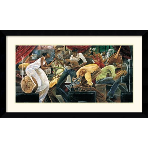 Amanti Art 'Red Hot on Cool' by Frank Morrison Framed Painting Print
