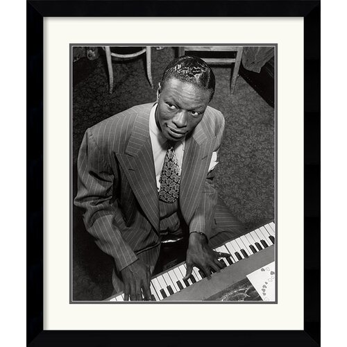 'Nat King Cole' by William P. Gottlieb Framed Photographic Print