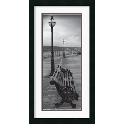 Bench on the Boardwalk Framed Photographic Print