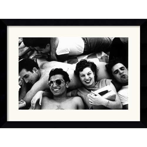Amanti Art 'Teenagers, Coney Island, 1949' by Harold Feinstein Framed Photographic Print