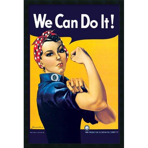 Amanti Art 'Rosie the Riveter' by Howard Miller Framed Vintage Advertisement