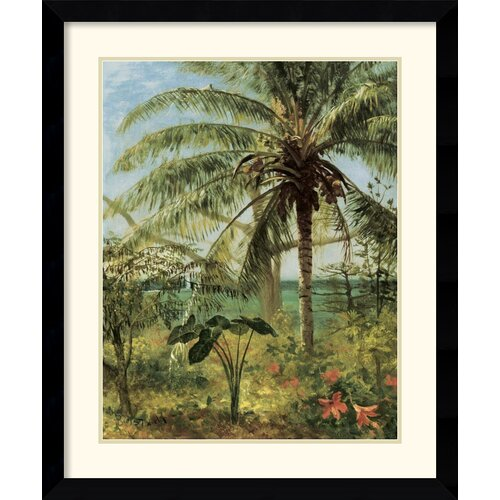'Palm Tree, Nassau' by Albert Bierstadt Framed Painting Print