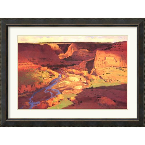 'Canyon River' by Paul Davis Framed Painting Print