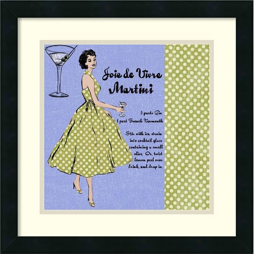 'Martini Lady' by Lisa Ven Vertloh Framed Graphic Art