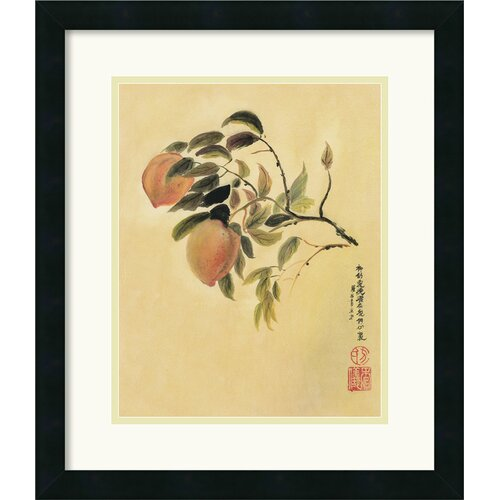 'Peaches' by Suzanna Mah Fong Framed Painting Print