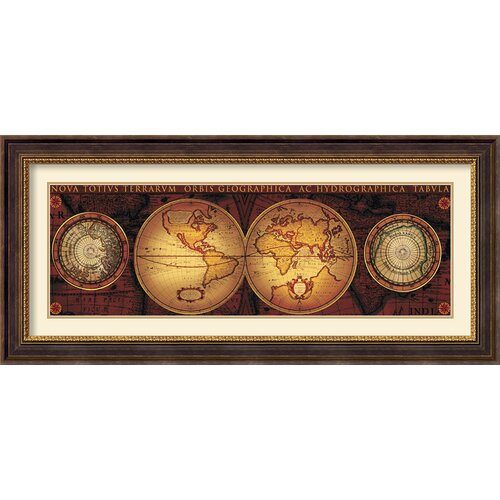 'Orbis Geographica 2' by Max Besjana Framed Graphic Art