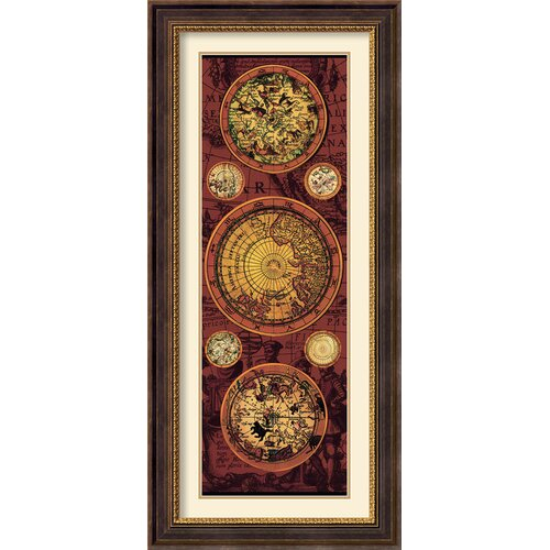 'Orbis Geographica 1' by Max Besjana Framed Graphic Art