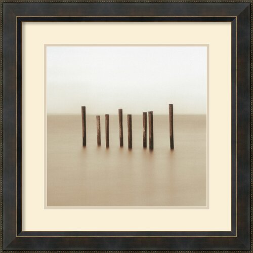 'Eight Piers' by Alan Klug Framed Painting Print
