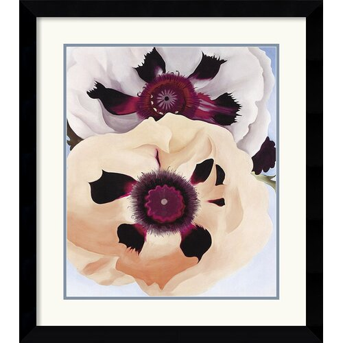 'Poppies, 1950' by Georgia O'Keeffe Framed Painting Print