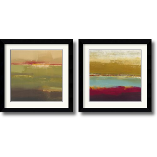 Amanti Art 'Domain One' by Craig Alan 2 Piece Framed Painting Print Set