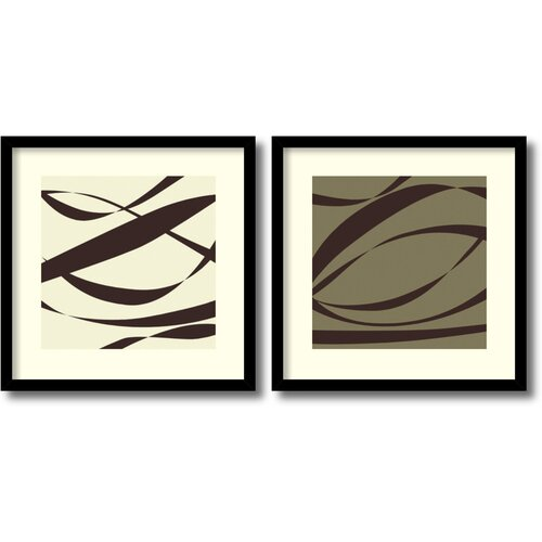 Amanti Art 'Fistral Praline and Coco' by Denise Duplock Framed Graphic Art