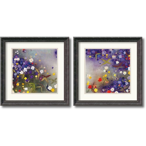 Amanti Art 'Gardens in the Mist' by Aleah Koury 2 Piece Framed Painting Print Set