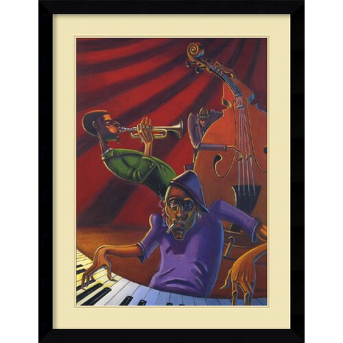 'Jazz Trio' by Justin Bua Framed Art Print