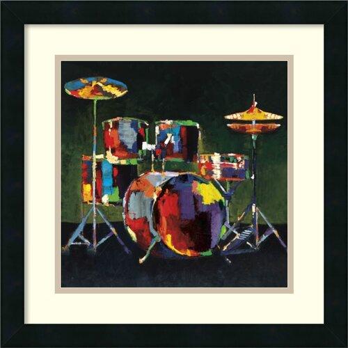 'Drum Set' by Elli and John Milan Framed Art Print