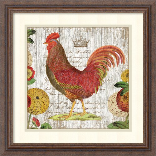 'Rooster II' by Suzanne Nicoll Framed Vintage Advertisement