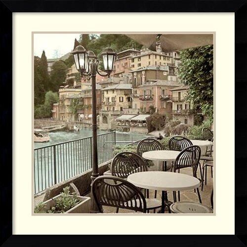 'Porto Caffe, Italy' by Alan Blaustein Framed Art Print