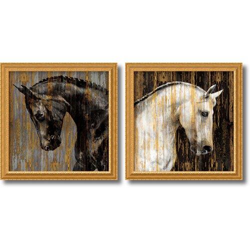 'Horses' by Martin Rose 2 Piece Framed Art Print Set
