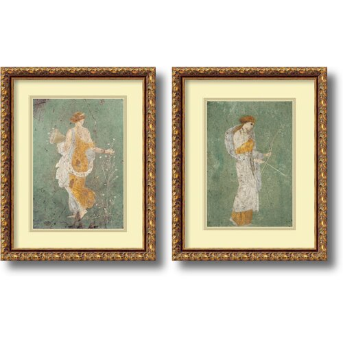 'Primavera and Diana' by Pompeian 2 Piece Framed Painting Print Set
