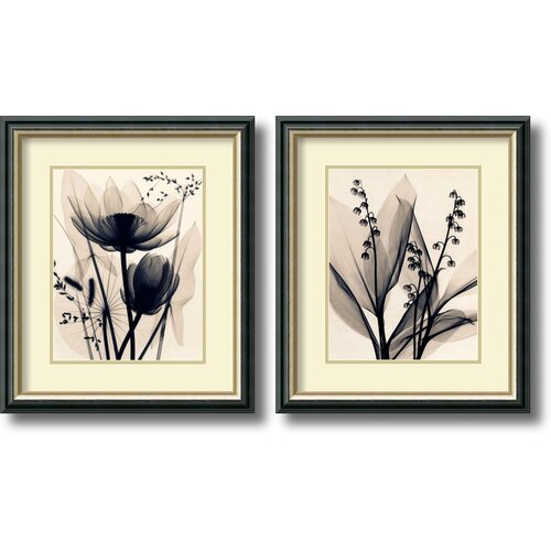 'Lotus and Grasses / Lily of The Valley' by Judith McMillan 2 Piece Framed Graphic ...