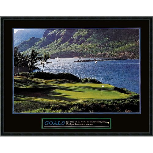 Amanti Art Goals - Golf Framed Photographic Print