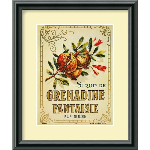 Amanti Art Grenadine Fantaisie Framed Graphic Art