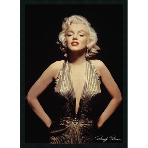 Amanti Art Marilyn Monroe (Gold) Framed Photographic Print