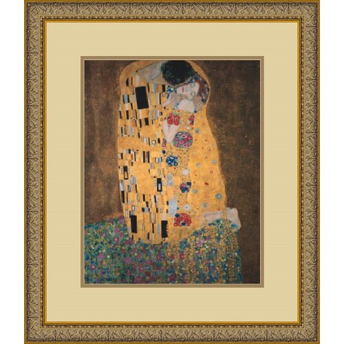 Amanti Art 'The Kiss (Le Baiser/Il Baccio)' by Gustav Klimt Framed Painting Print