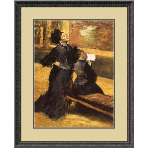 'Visit to a Museum' by Edgar Degas Framed Painting Print