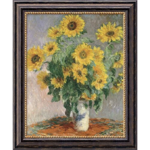 Amanti Art 'Sunflowers, 1881' by Claude Monet Framed Painting Print