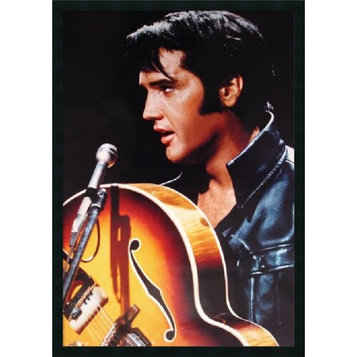 Elvis - the King of Rock n Roll Framed Photographic Print