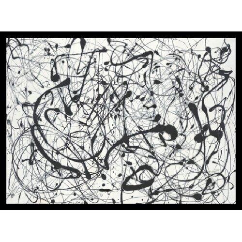 Amanti Art 'No. 14: Gray' by Jackson Pollock Framed Painting Print