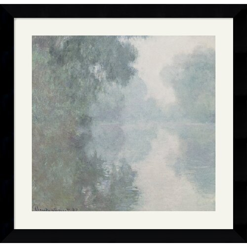 Amanti Art 'The Seine at Giverny, Morning Mists, 1897' by Claude Monet Framed Painting Print