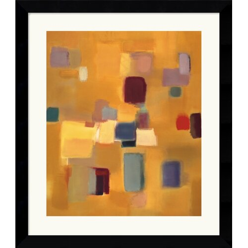 Amanti Art 'Song in Gold' by Nancy Ortenstone Framed Painting Print