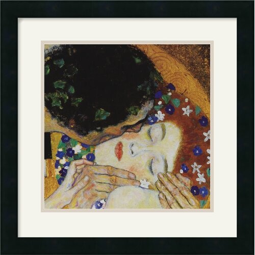 Amanti Art 'The Kiss (Head Detail)' by Gustav Klimt Framed Painting Print