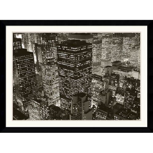 Amanti Art 'Mary Poppins Over Midtown, NY 2006' by Michael Kenna Framed Photographic Print