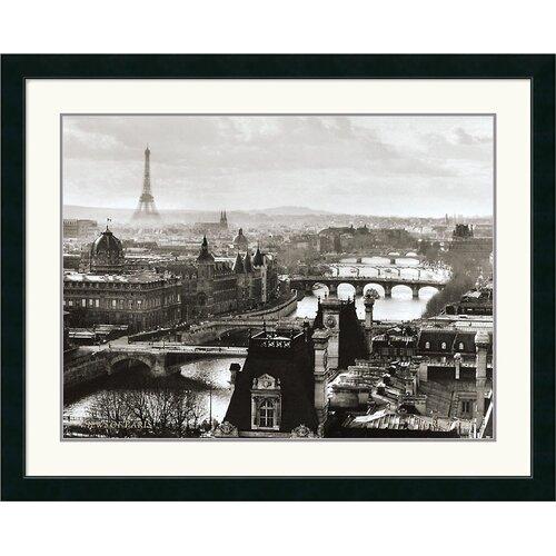 Amanti Art Views of Paris The River Seine Framed Photographic Print