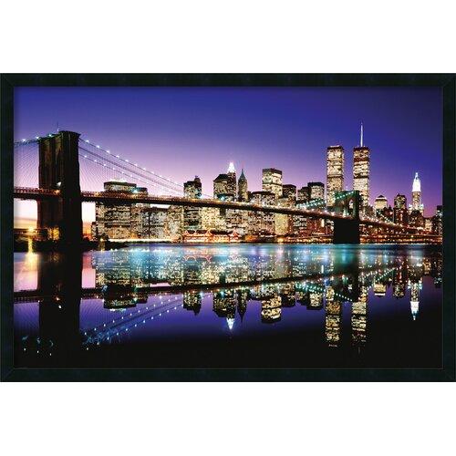 Amanti Art Brooklyn Bridge Color Framed Photographic Print