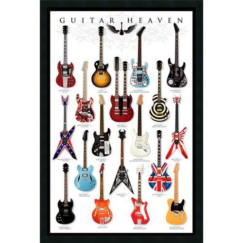 Guitar Heaven Framed Vintage Advertisement