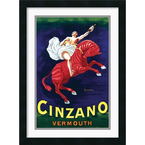 Amanti Art Cinzano Vermouth Framed Vintage Advertisement