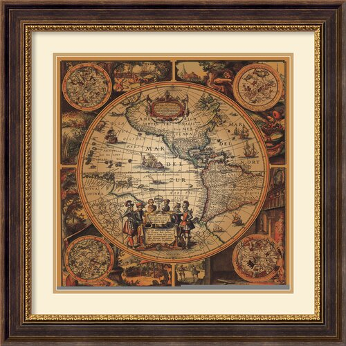 'Cartographica 2' by Max Besjana Framed Graphic Art