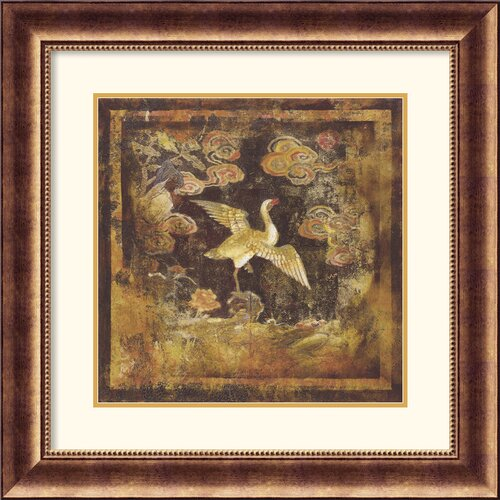 'Bird of Paradise I' by Georgie Framed Painting Print