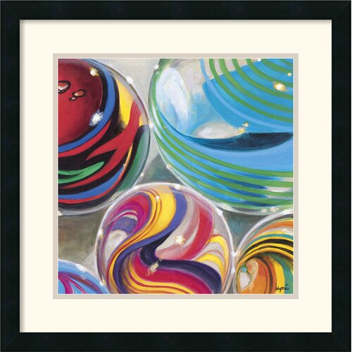 'Marvelous Marbles I' by Karen Dupre Framed Graphic Art