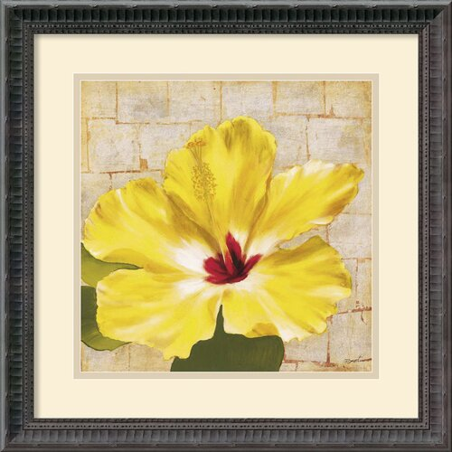Amanti Art 'Fabric Floral One' by Dysart Framed Painting Print